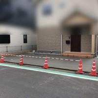 所沢市の新築エクステリア【駐車場のコンクリートと砂利敷き工事】のサムネイル