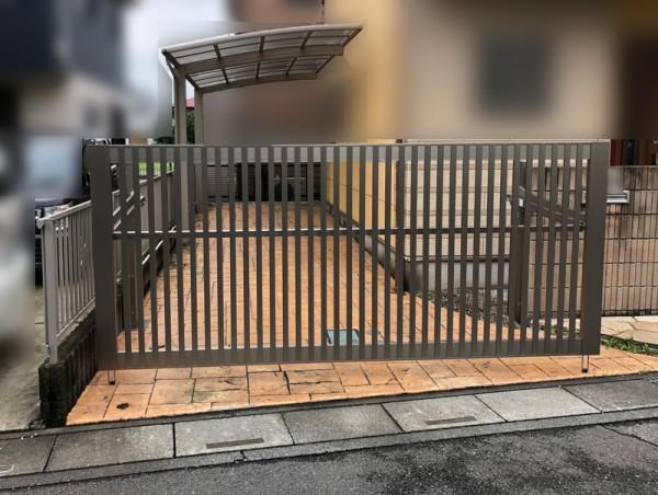 川越市 跳ね上げ門扉の設置工事のサムネイル