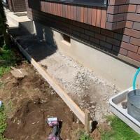 所沢市 土間コンクリート工事(犬走り)のサムネイル