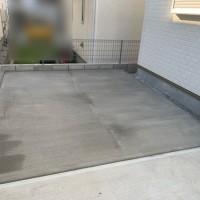 所沢市 庭のコンクリート工事【土間コンクリート工事】のサムネイル